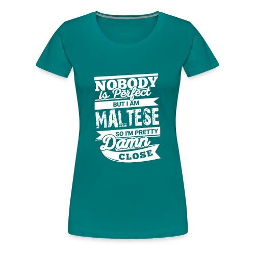 maltese - Premium-T-shirt dam