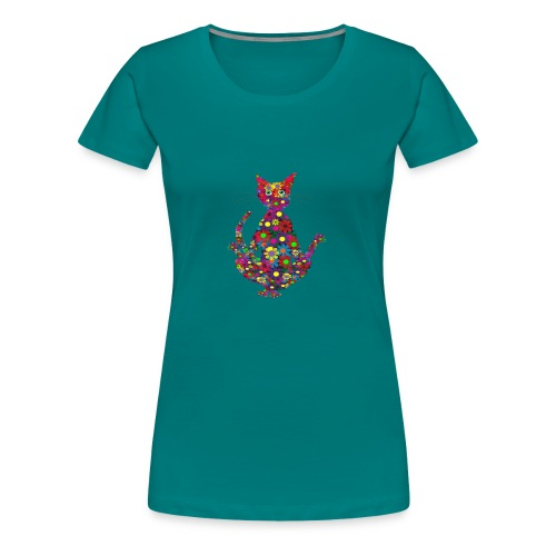 Woodstock Yoga Cat - Frauen Premium T-Shirt