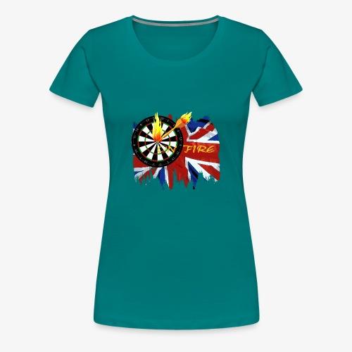 on fire - Frauen Premium T-Shirt