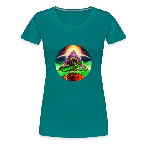 Leafy Disc - Premium T-skjorte for kvinner