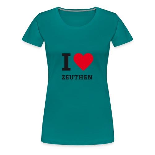 I Love Zeuthen - Frauen Premium T-Shirt