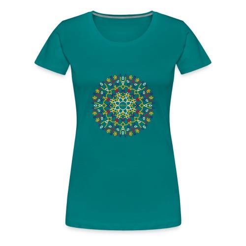 izia flower pattern - Frauen Premium T-Shirt