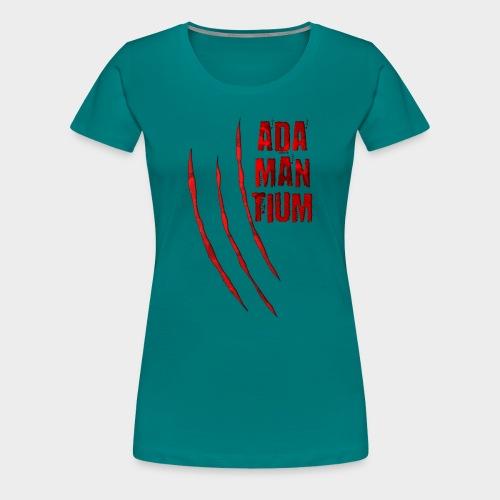 Blutige Monster Krallen Kratzer ADAMANTIUM - Frauen Premium T-Shirt