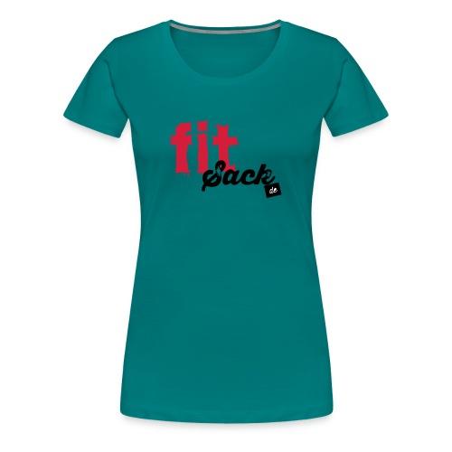 fitsack Schriftzug - Frauen Premium T-Shirt