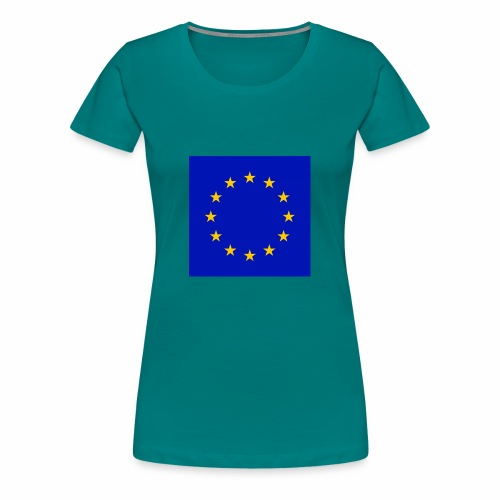 TRUE EU BLUE - Frauen Premium T-Shirt