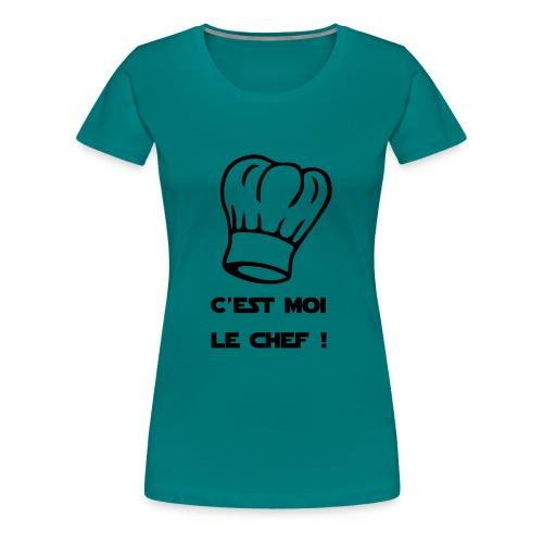 C'est moi le chef ! Toque de cuisinier - T-shirt Premium Femme