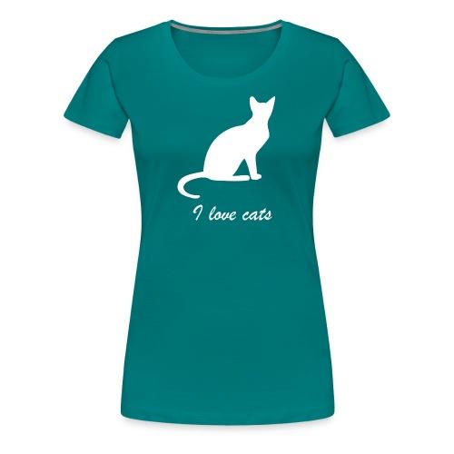 i love cats - Frauen Premium T-Shirt