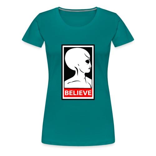 SpaceHoop - Alien Believe - T-shirt Premium Femme