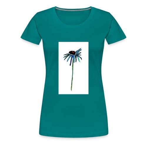 fiore blu - Maglietta Premium da donna