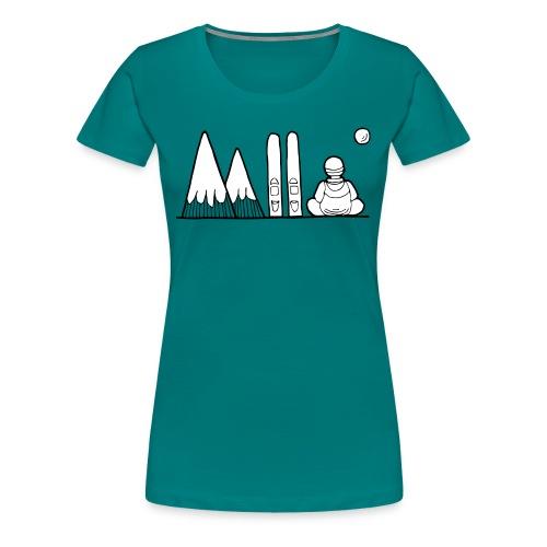 ski et montagnes - T-shirt Premium Femme