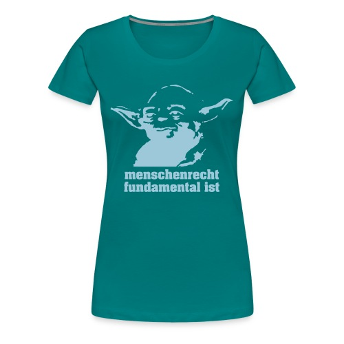 menschenrecht yoda (chocco) - Frauen Premium T-Shirt