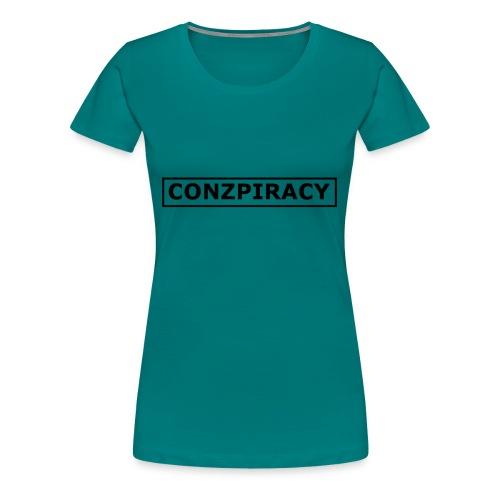 CONZPIRACY wording - Women's Premium T-Shirt