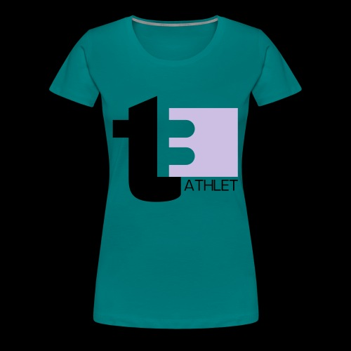 t3 Triathlet - Frauen Premium T-Shirt