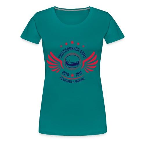 Cheeseburger Army U.S Colors - Premium T-skjorte for kvinner