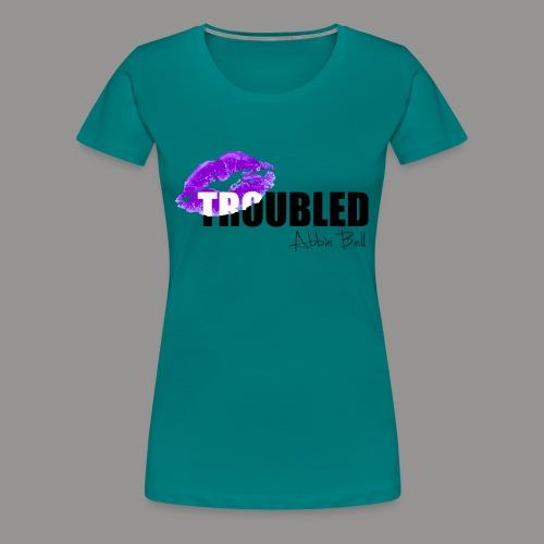 Official TROUBLED blk LOGO - Women's Premium T-Shirt