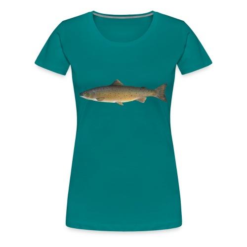 Zielfisch Lachs - Frauen Premium T-Shirt
