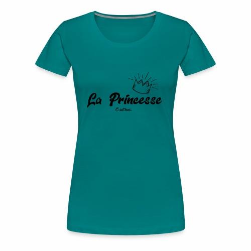 princesse couronne NOIR - T-shirt Premium Femme