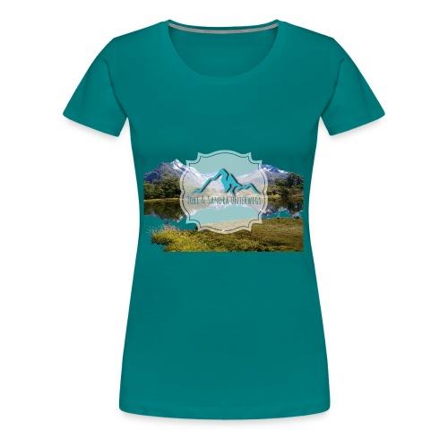 Logo mit Berglandschaft - Frauen Premium T-Shirt