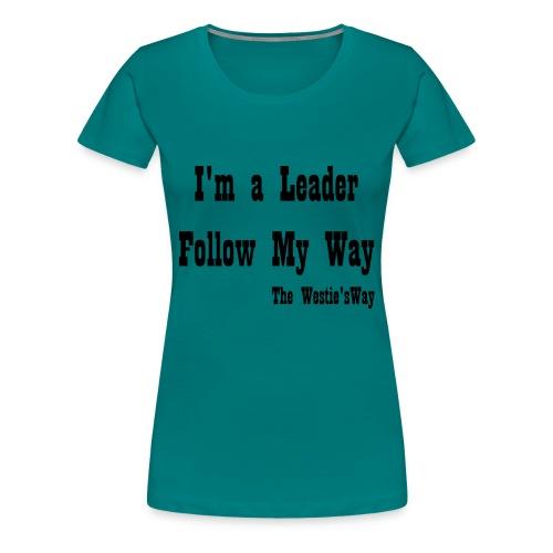 Follow My Way Black - Koszulka damska Premium