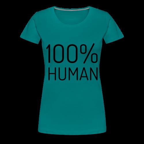 100% Human - Vrouwen Premium T-shirt