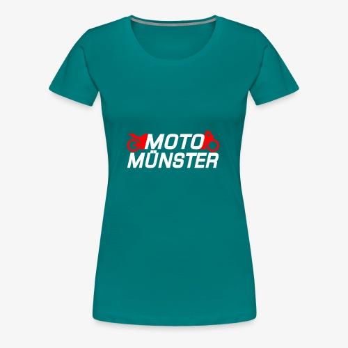 MotoMünster Logo mit weißer Schrift - Frauen Premium T-Shirt