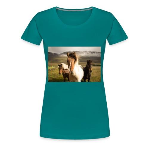 Islandpferde - Frauen Premium T-Shirt