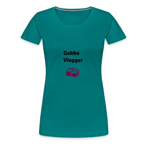 Gekke vlogger telefoon hoesje - Vrouwen Premium T-shirt
