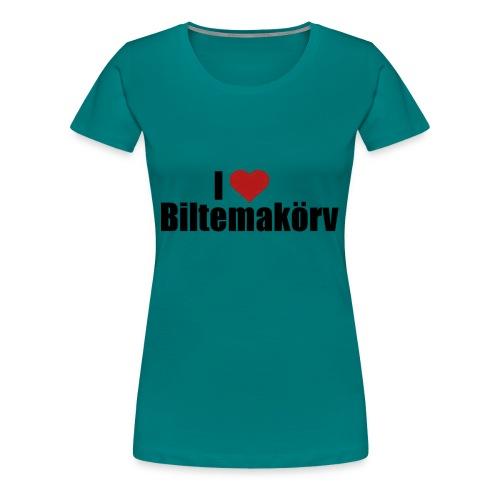 I Love Biltemakörv - Premium-T-shirt dam