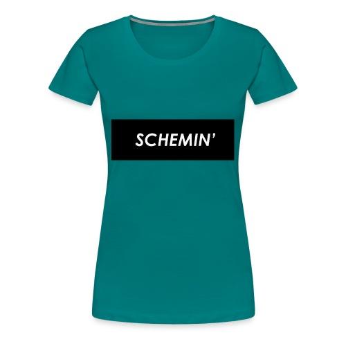 SCHEMIN' Black/White colour way - Women's Premium T-Shirt