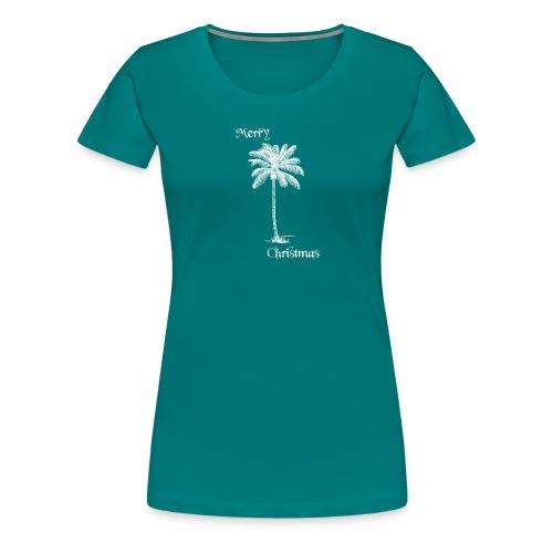 Merry Christmas Palme - Frauen Premium T-Shirt