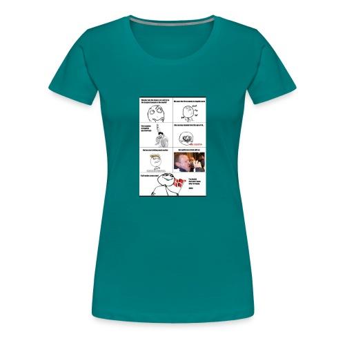 Danish alcohol problems - Dame premium T-shirt