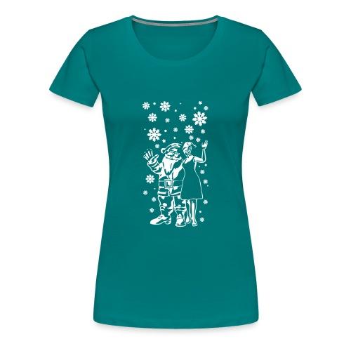 Merry Christmas ✫ Weihnachten ✫ Comic T-Shirt - Frauen Premium T-Shirt