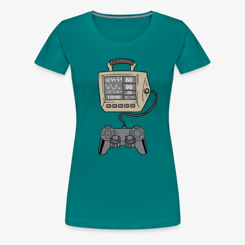 Gamer Herzschlag I Nerd Zocken Geschenk - Frauen Premium T-Shirt