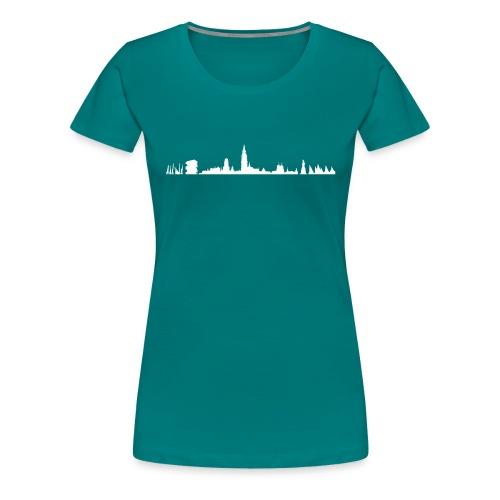 Antwerpen skyline - Vrouwen Premium T-shirt