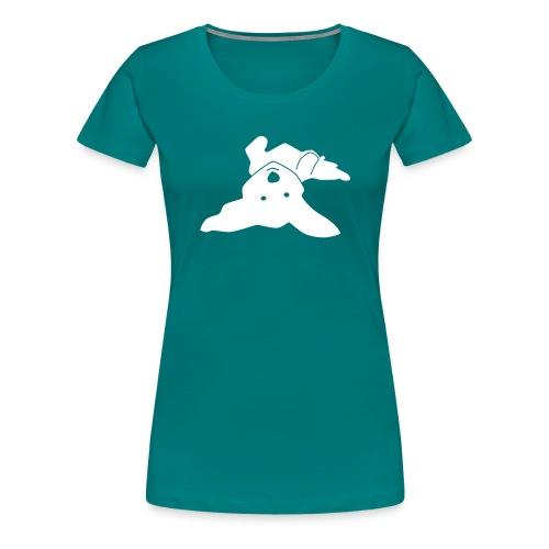 Havaneser auf dem Rücken - Frauen Premium T-Shirt