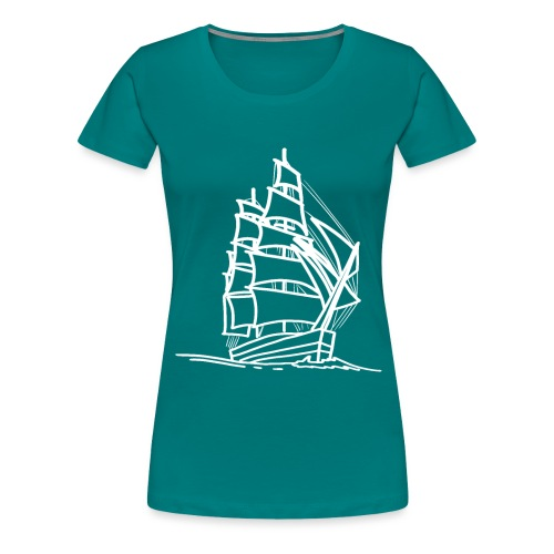Segelschiff Illustration Meer Schiff Bootsfahrt - Frauen Premium T-Shirt