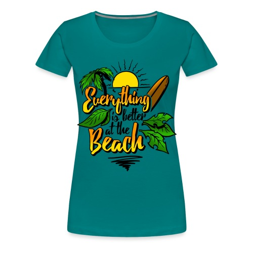 Beach-colour - Frauen Premium T-Shirt