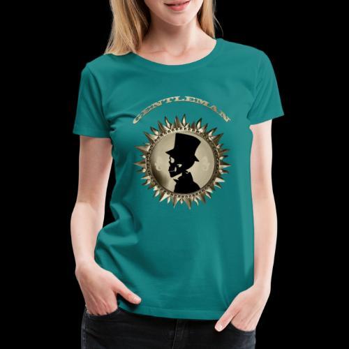 TÊTE DE MORT SILHOUETTE PORTRAIT GENTLEMAN - T-shirt Premium Femme