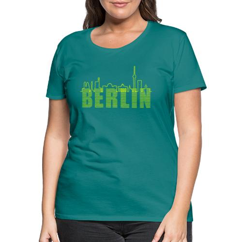 Skyline Berlin - Frauen Premium T-Shirt
