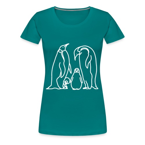 Pinguin Familie Familienshirt Tierfreunde Geschenk - Frauen Premium T-Shirt