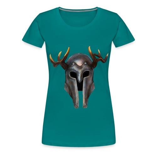 Casque Vikings Hircine - T-shirt Premium Femme
