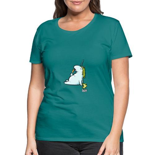STE 0006 00 Eis Einhorn - Frauen Premium T-Shirt