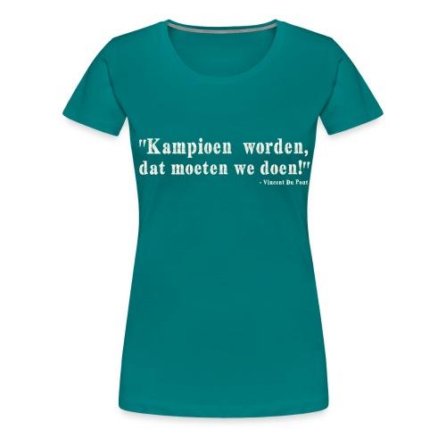 Vincent Du Pont white - Vrouwen Premium T-shirt