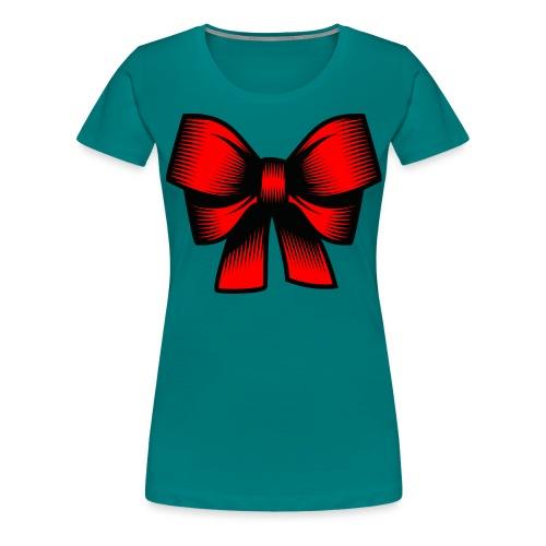 Schleife rot - Frauen Premium T-Shirt