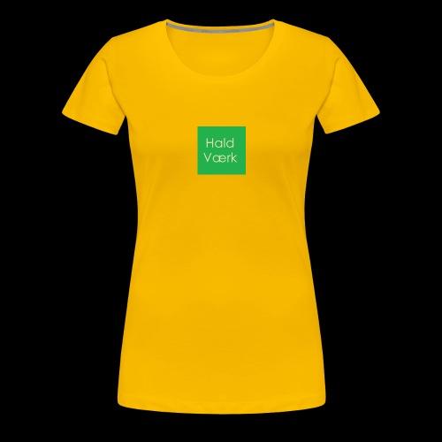 Haldværk - Dame premium T-shirt