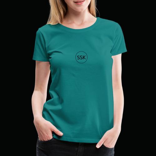 Salangen Skolekantine logo - Premium T-skjorte for kvinner
