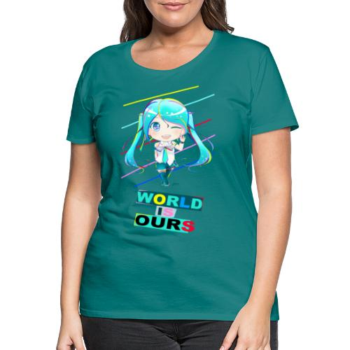 Mikolorful / World Is Ours - Camiseta premium mujer
