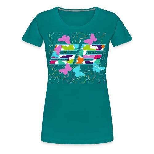 Dorsal mariposas de colores - Camiseta premium mujer