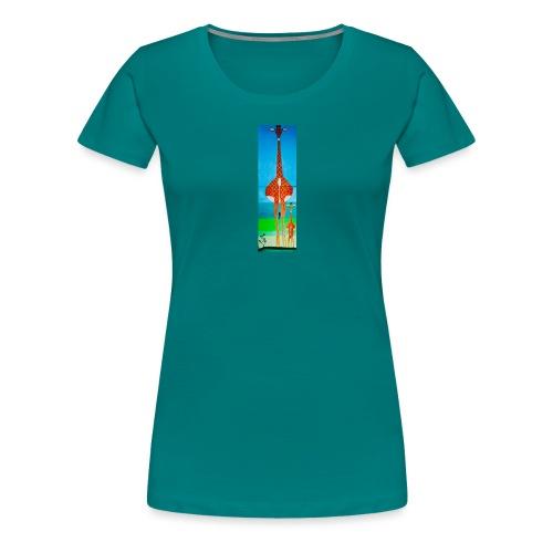 Lustige Giraffe mit Baby - Frauen Premium T-Shirt