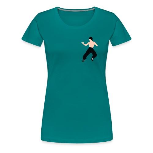 Bruce lee Kampf Pose - Frauen Premium T-Shirt